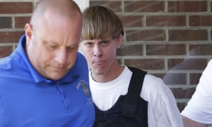 Dylann Roof escorted by police in Shelby, North Carolina.