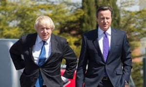Boris Johnson and David Cameron in 2015.