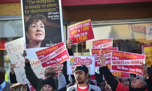 Fast-food workers in LA fight for $15 an hour.