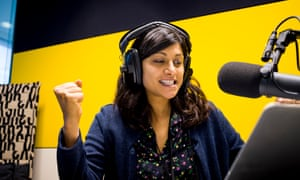 Anushka Asthana in the recording studio for Today in Focus.