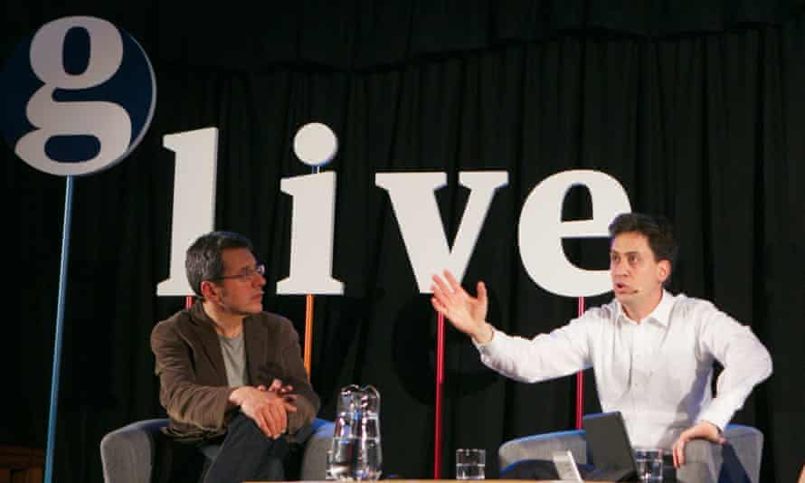 Ed Miliband was speaking with George Monbiot to an audience in London on Thursday.