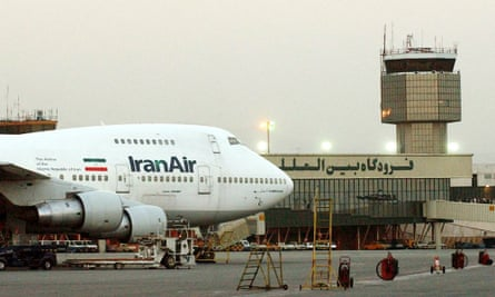 An Iran Air Boeing 747 at Mehrabad airport in Tehran