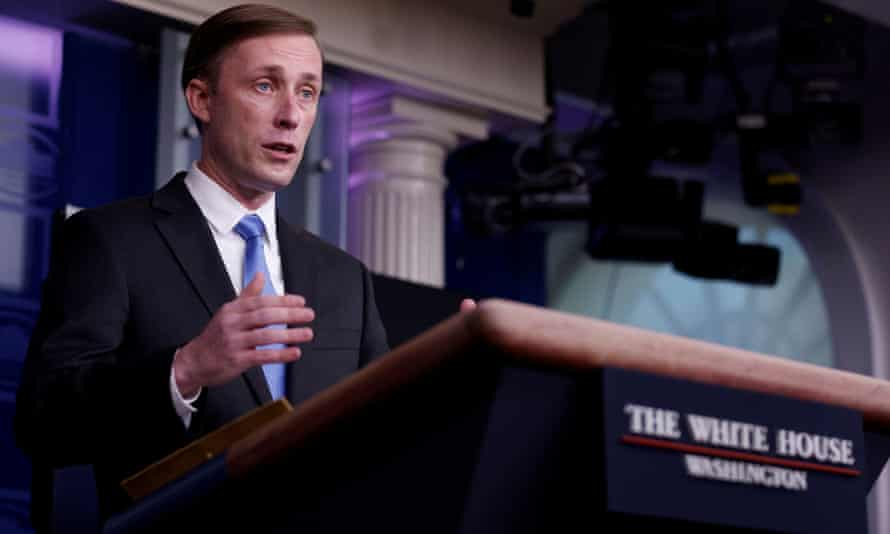 Jake Sullivan, national security adviser, said on Sunday: 'We will not accept a long-term proposition where they continue to hold Americans in unjust and unlawful manner.'