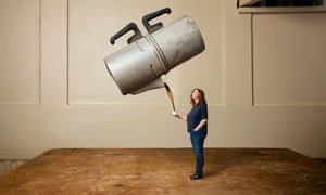 Daily grind: Angela Hartnett with her old coffee percolator.