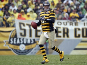 Someone needs to tell Ben Roethlisberger that horizontal stripes do little for his figure.