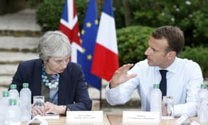 Theresa May cut short her holiday to meet the French president, Emmanuel Macron, to discuss Brexit