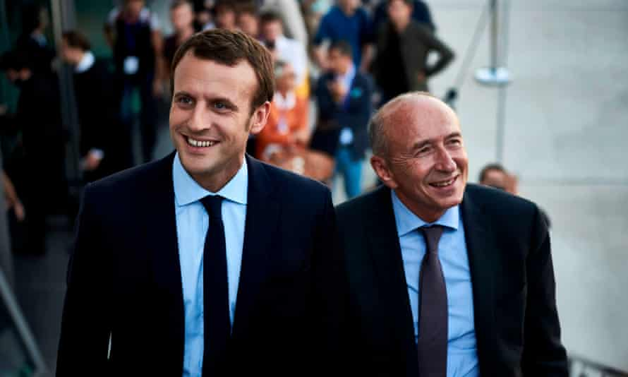 Macron and Collomb.