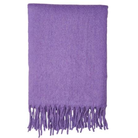 Open-weave blanket scarf,£65, Whistles.
