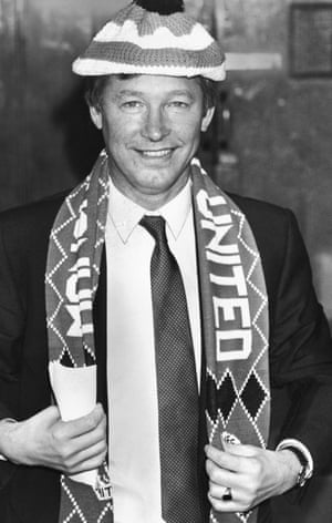 Alex Ferguson in 1986 after taking over as Manchester United boss.