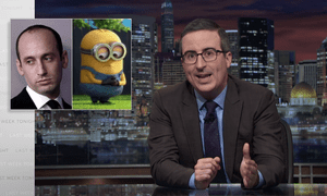 'Trump's leaving at the end of what the White House has deemed 'American Dream' week, which Trump chose to mark by demeaning as many American institutions as he possibly could'...John Oliver