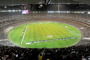 A view of the action in the MCG