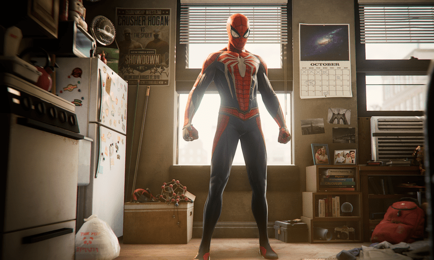 'When people record all the data from my performances, what does the future look like?' ... Yuri Lowenthal as Spider-Man in the 2018 game.
