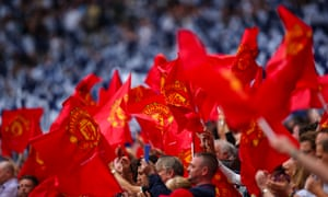 Manchester United fans at the Wembley FA Cup semi-final victory against Tottenham on Saturday.
