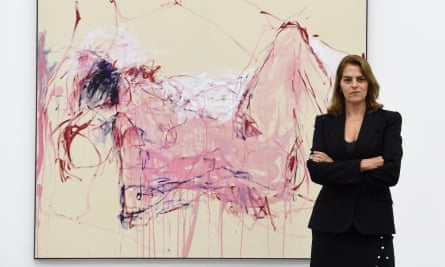 Tracey Emin opens her exhibition at the White Cube Bermondsey, London.