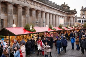 The Christmas market by The Mound, Princes Street