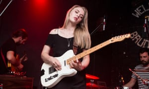 'They're just songs'… Slow Club's Rebecca Taylor, pictured on stage in Leeds, 2014.