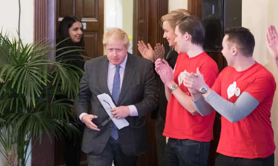 Boris Johnson arrives in Bristol