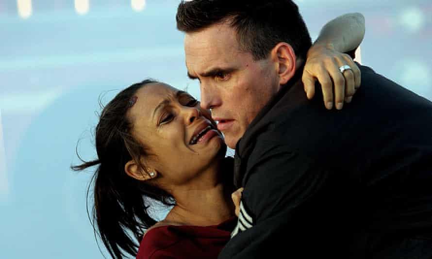 Perspiring melodrama ... Thandie Newton and Matt Dillon in Crash.