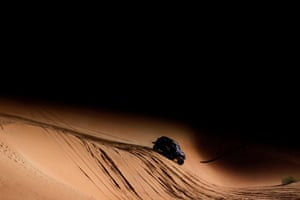 Saudi ArabiaX-Raid Mini JCW Team's Orlando Terranova and Bernardo Graue during stage 11 between Shubaytah and Haradh
