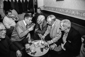 Cwm. Social club. All ex-miners. 1998