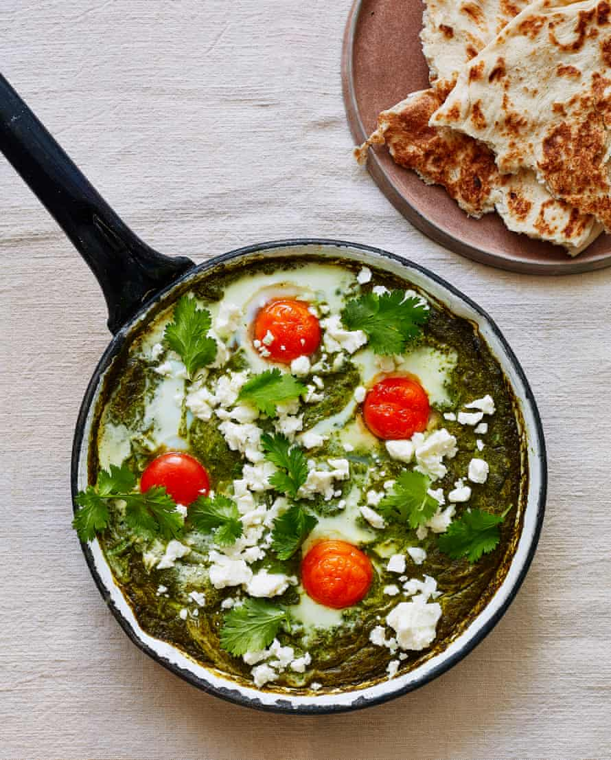 Thomasina Miers' Valentine's green brunch eggs