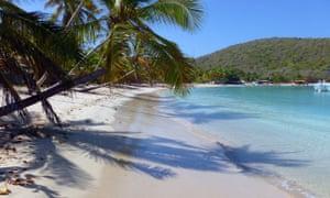 Beach scene on British Virgin Islands