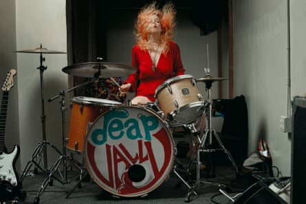 Deap Vally's Julie Edwards, photographed at the band's rehearsal space, Los Angeles