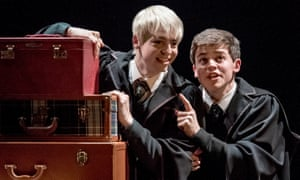 Anthony Boyle (Scorpius Malfoy) and Sam Clemmett (Albus Potter) in Harry Potter and the Cursed Child.