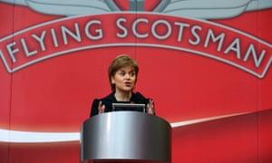 Scottish first minister Nicola Sturgeon making a speech