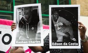 Rashan Charles and Edson da Costa