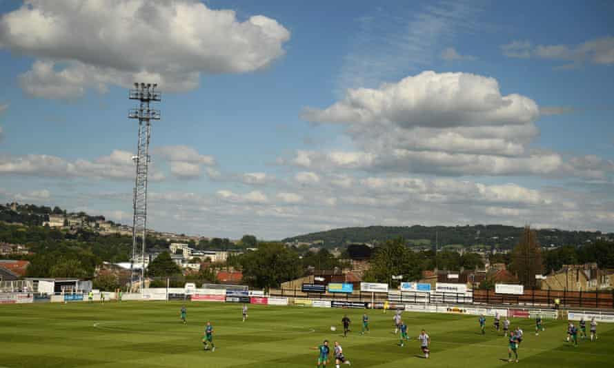 Bath City and Dorking Wanderers contest the National League South play-off in July.