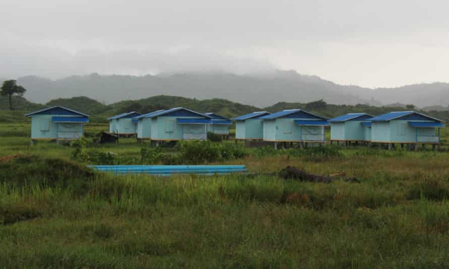 A newly built 'common village' for non-Rohingya settlers south of Inn Din village.