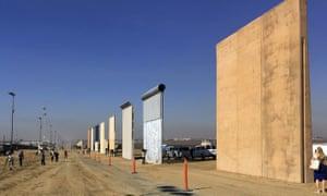 The Mexico border wall prototypes