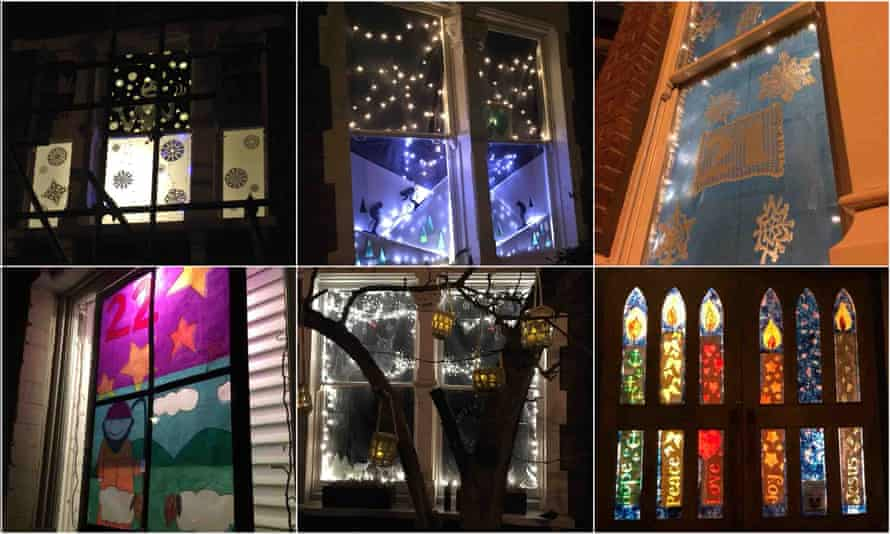 Windows 19-24: nightmare before, skiiers, crochet stars, bold shepherds, owls and St Andrew's.