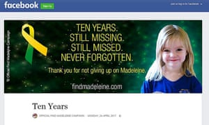 Image taken from the Official Find Madeleine Campaign Facebook page of a message from Madeleine McCann's parents, Gerry and Kate, on the tenth anniversary of their daughter's disappearance.