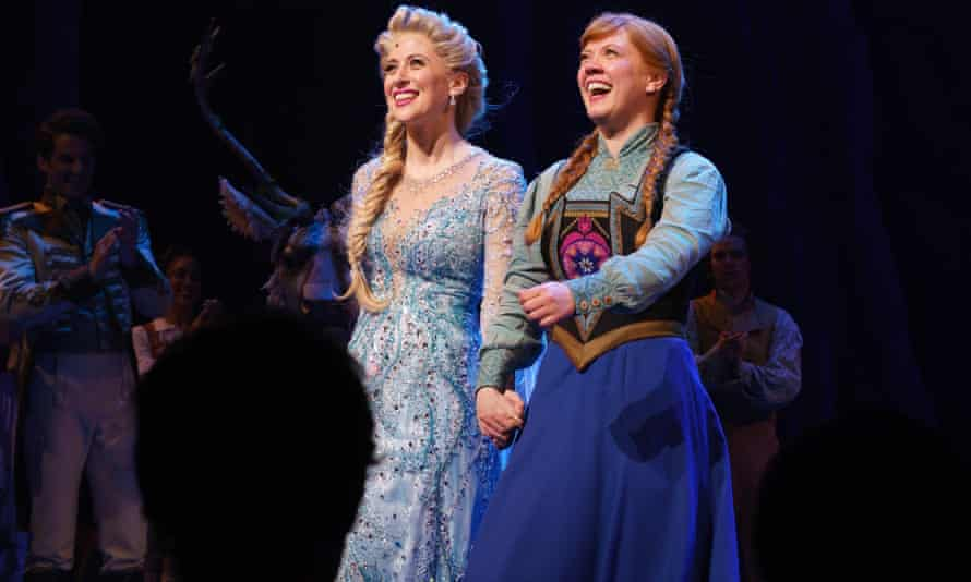 Patti Murin, right, currently plays Anna in the musical version of Disney's Frozen.