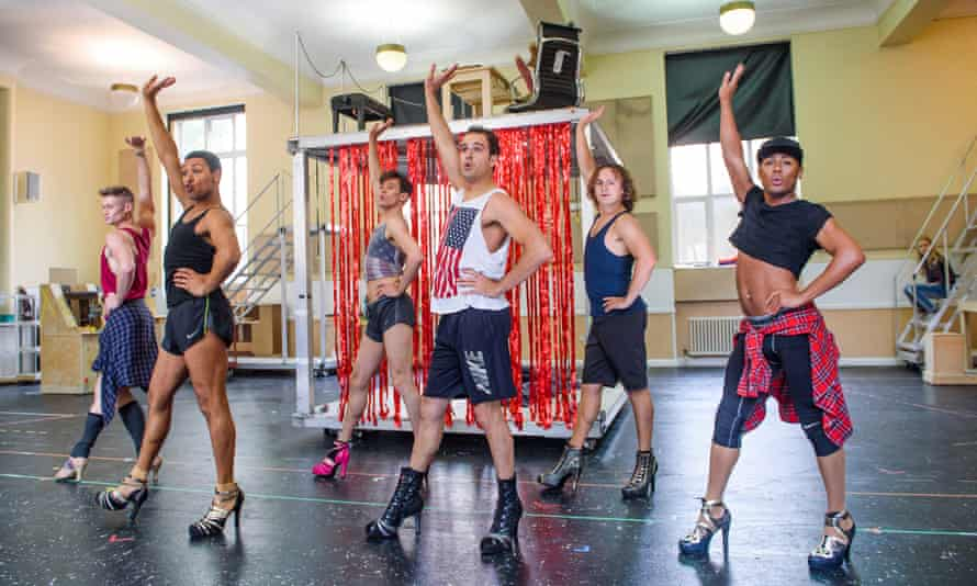 Rehearsals for Kinky Boots.