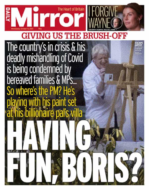 Daily Mirror front page.