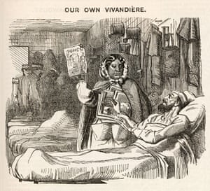 Seacole as depicted in Punch in 1857.