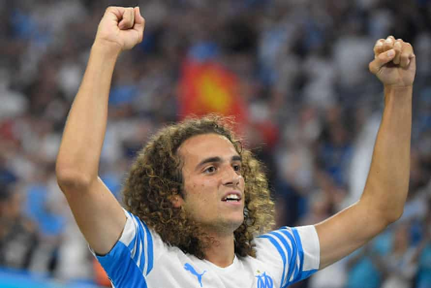 Matteo Guendouzi scored for Marseille in their win over St Etienne.