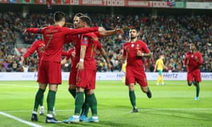 Cristiano Ronaldo takes the acclaim of his teammates during another captain's performance from Portugal's record scorer, who is now just two goals away from his century.