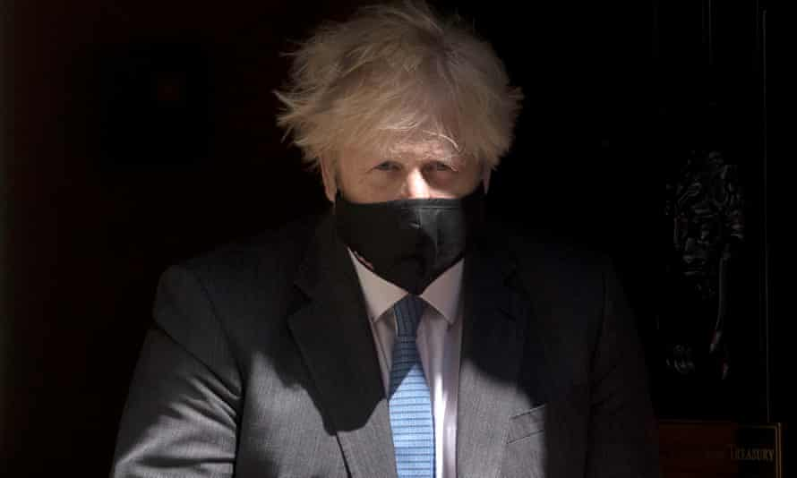 Boris Johnson Attends Prime Minister's QuestionsLONDON, ENGLAND - JUNE 23: British Prime Minister, Boris Johnson wearing a face mask, leaves 10 Downing Street to attend the weekly Prime Ministers Questions in the House of Commons on June 23, 2021 in London, England. (Photo by Dan Kitwood/Getty Images)