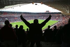 Over 46 thousand fans fill the  Stadium of Light to watch the League One match between Sunderland and Bradford City.