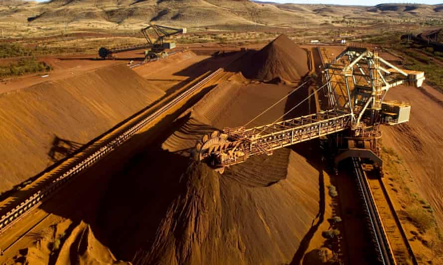 The Yandicoogina iron ore mine in Western Australia