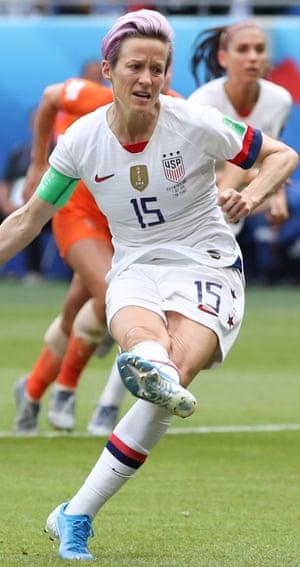 Megan Rapinoe at the 2019 Women's World Cup.