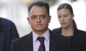 Dr Manish Shah arriving at Snaresbrook crown court