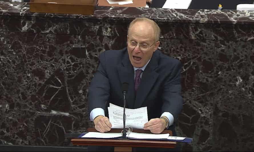 David Schoen speaks during the trial.