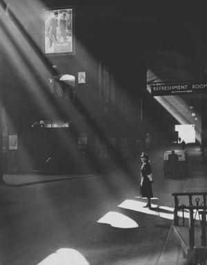 Railway officer in a sunbeam