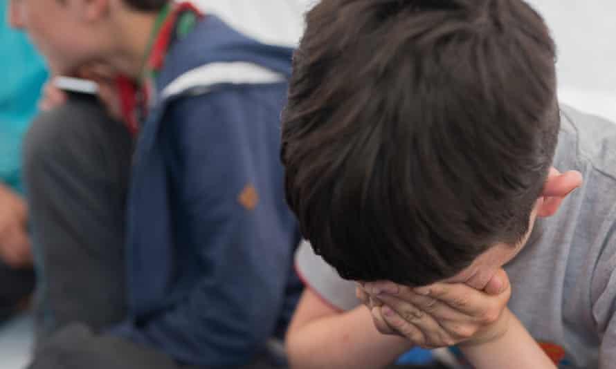 A child in Calais