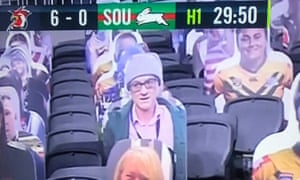 A Dominic Cummings cardboard cutout appeared at Sydney Roosters' behind-closed-doors clash with South Sydney Rabbitohs in the Australian city on Friday.